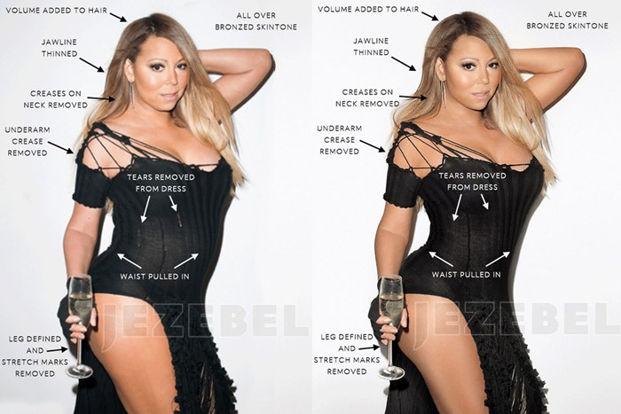 Mariah Carey before and after photoshop