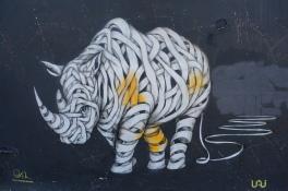 Bandage Rhino Street Art - Camden