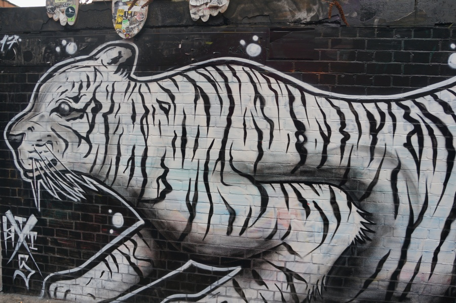White Tiger Street Art - Shoreditch