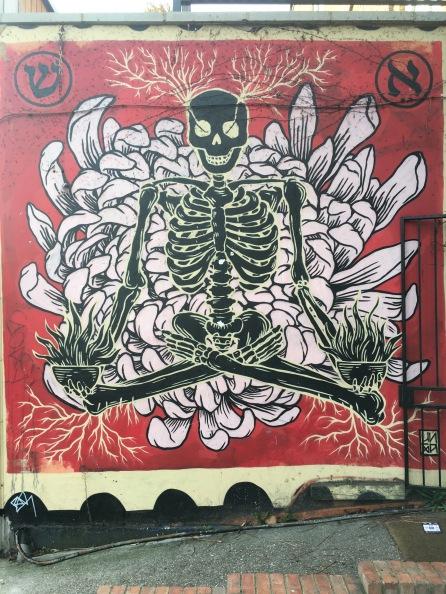 Yoga Skull Street Art - Hoxton