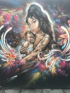 Amy Winehouse with Baby Street Art - Hoxton