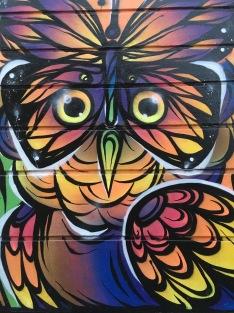 Colourful Bird Design Street Art - Camden