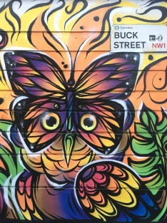 Colourful Bird Design Street Art - Camden