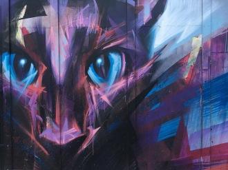 Cat's Eyes Street Art - Camden