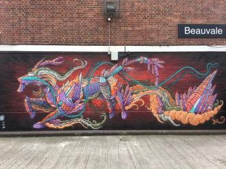 Dragon Design Street Art - Camden, London