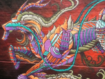 Dragon Design Street Art - Camden, London