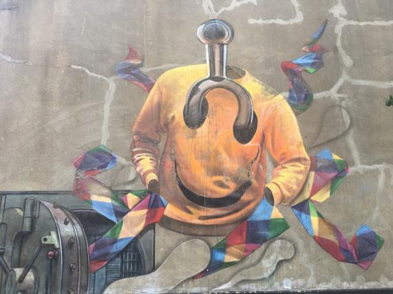 Smiley Face Top Street Art - Southwark