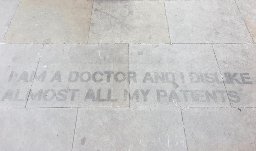 Doctors Street Message Street Art - Southwark