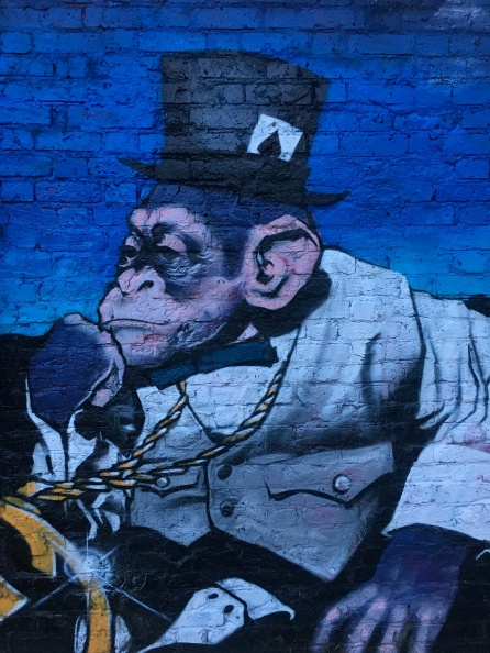 Pimped Chimp Street Art - Shoreditch