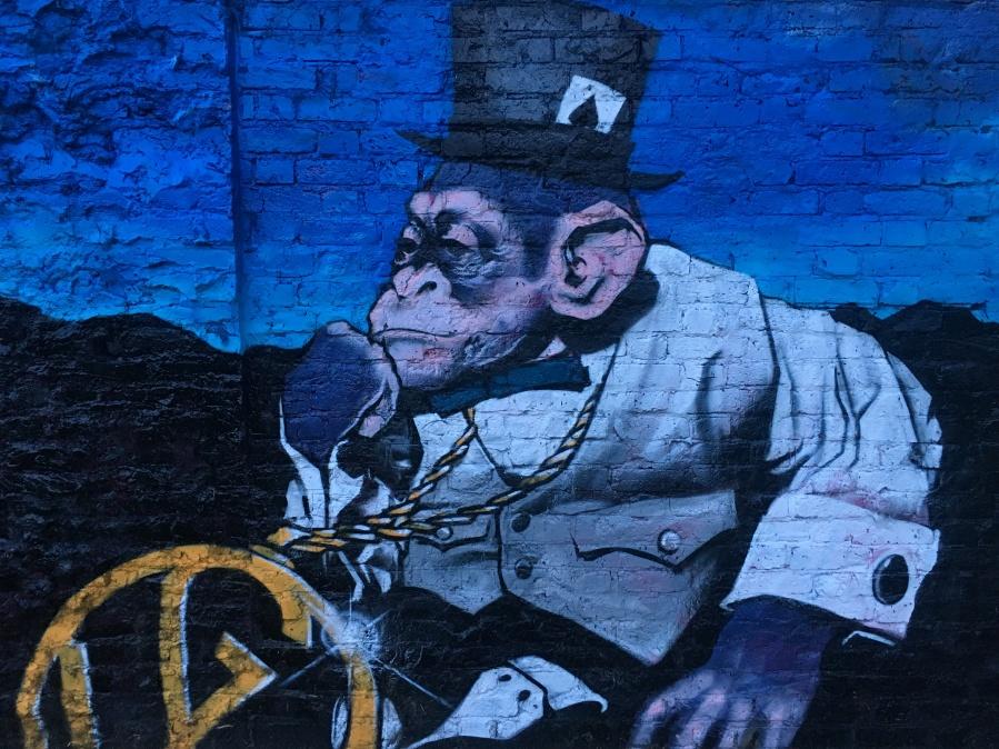 Pimped Chimp Street Art - Shoreditch