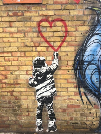 Banksy Love Heart Street Art - Camden