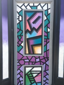 Abstract Shapes Over Doorway Street Art - Camden