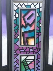 Abstract Shapes Over Doorway Street Art - Camden