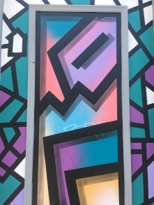 Abstract Shapes Over Doorway Street Art Close Up - Camden