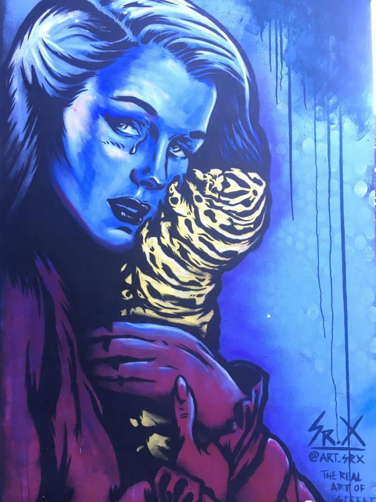 Crying Woman Street Art - Camden