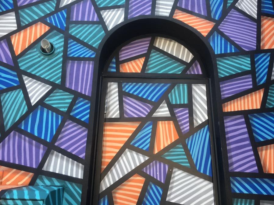 Abstract Shapes Street Art Close Up - Camden