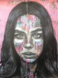 Artistic Woman Street Art - Camden
