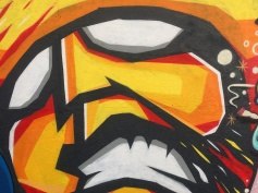 Orange Hulk Street Art - Camden