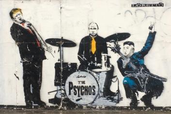 The Psychos Band Street Art - Shoreditch