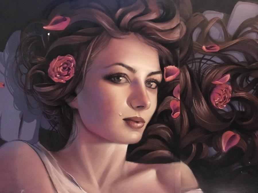 Beautiful Woman Street Art - Camden