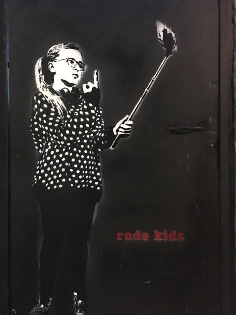 Rude Kids Street Art - Camden