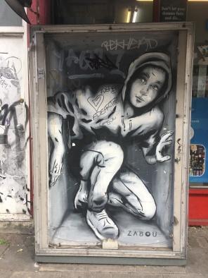 Boy in Box Street Art - Hoxton